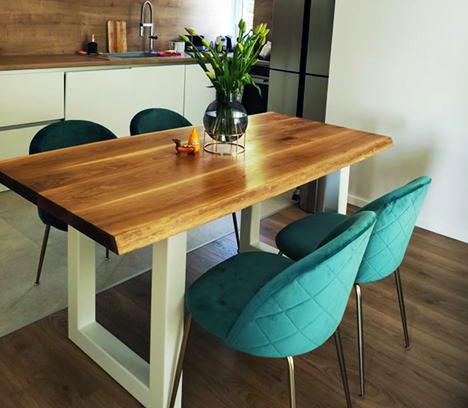 Tölgyfa étkező asztal